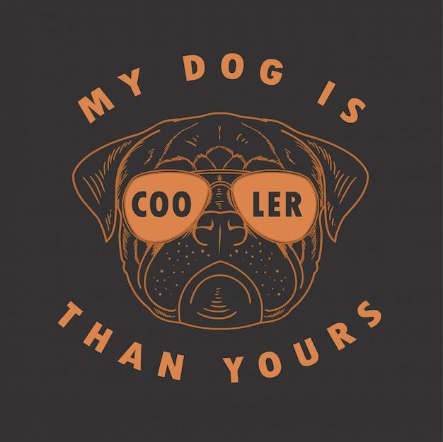 Pit bull meu cachorro é mais frio que o seu vector