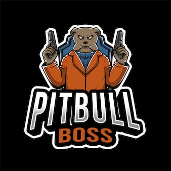 Pitbull boss esport logotipo