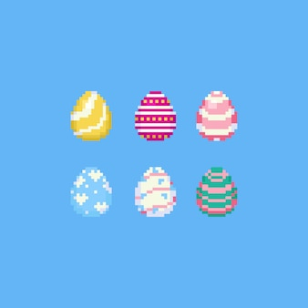 Pixel easter egg conjunto