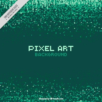 Pixels verdes fundo