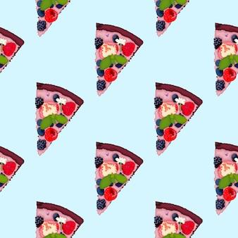 Pizza brownie com frutas do verão