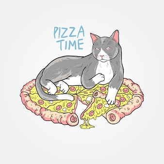 Pizza cat fofa