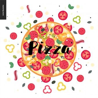 Pizza colorida
