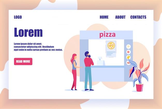 Pizzaria on-line landing page oferece pizza para pedidos