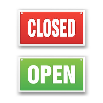 Placa aberta e fechada