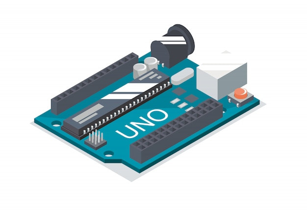 Placa arduino isométrica projetada