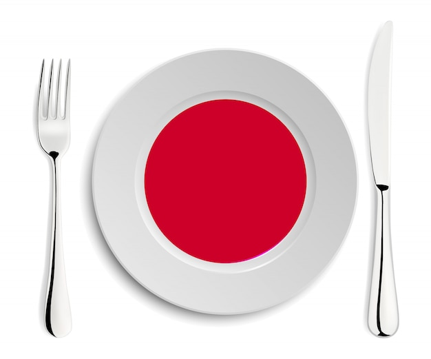 Placa com bandeira do japão