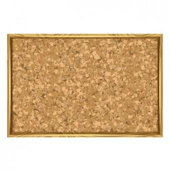 Placa da cortiça com moldura de madeira