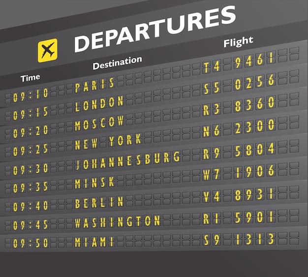 Placa de aeroporto