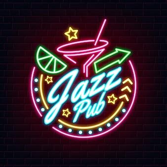 Placa de bar em neon