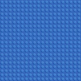 Placa de bloco de construção de plástico azul sem costura padrão design plano