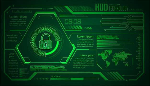Placa de circuito binário mundial tecnologia futura blue hud cyber security concept background