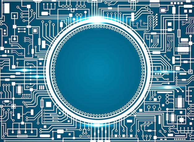 Placa de circuito de computador.