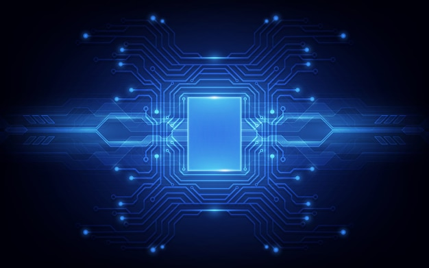 Placa de circuito de fundo abstrato processador chip de tecnologia