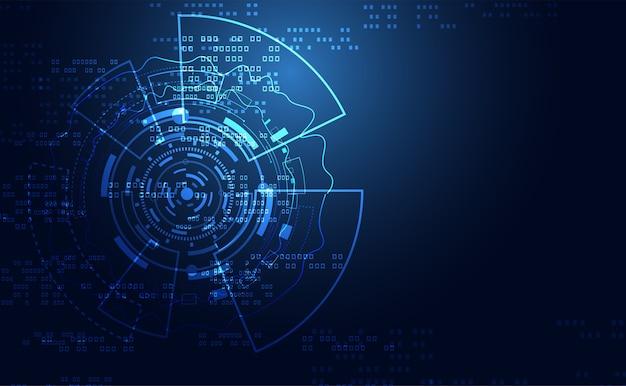 Placa de circuito futurista da inovação abstrata tecnologia