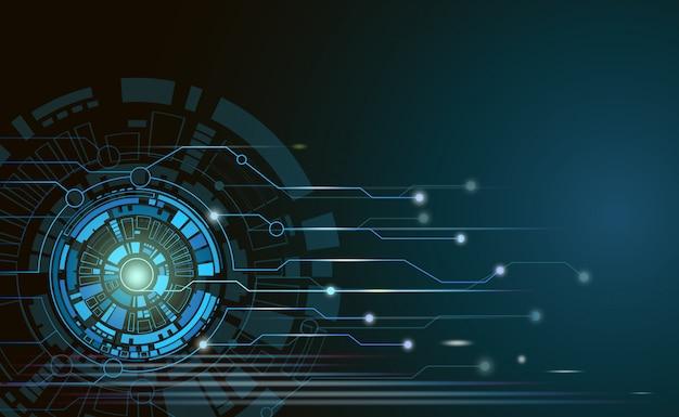 Placa de circuito futurista de tecnologia abstrata