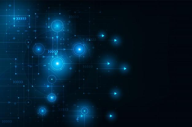 Placa de conexão de circuito futurista abstrata.