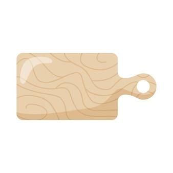 Placa de corte de madeira isolada sobre fundo branco. ilustração vetorial