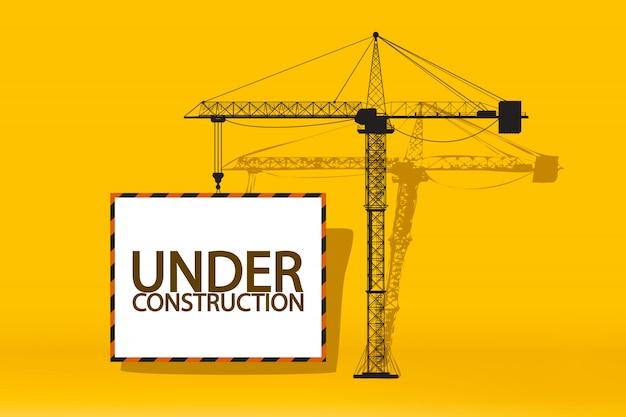 Placa de guindaste de construção