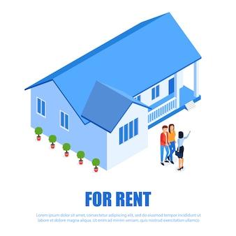 Placa de identificação plana para aluguel