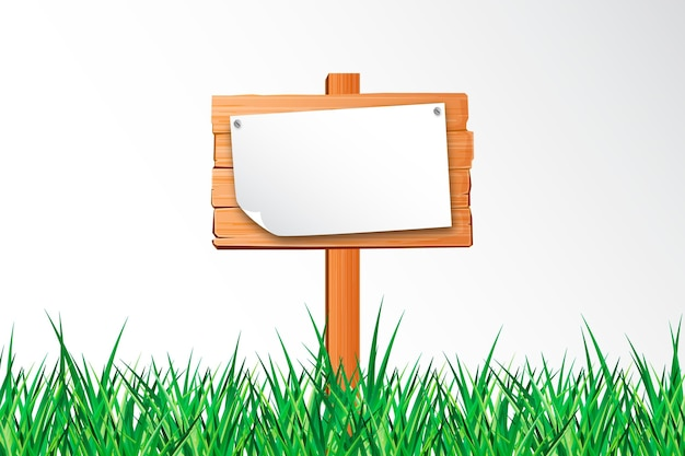 Placa de jardim realista