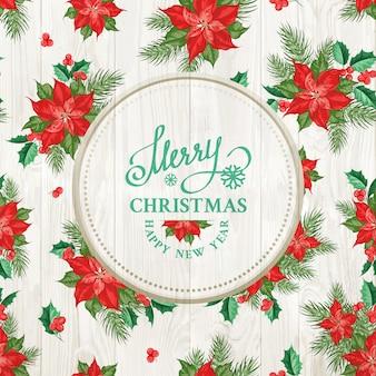Placa de madeira com feliz natal texto sobre textura de madeira.