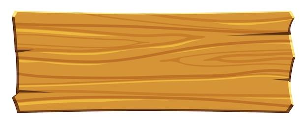 Placa de madeira de desenho animado