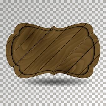 Placa de madeira de estilo antigo