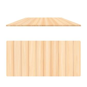 Placa de madeira de textura de cor creme vazia em fundo branco