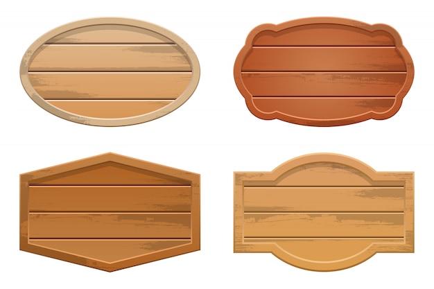 Placa de madeira isolada