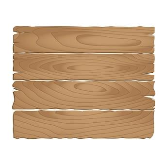 Placa de madeira no fundo branco