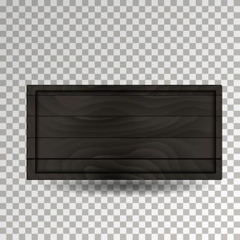 Placa de madeira preta