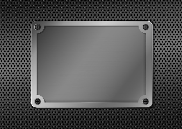 Placa de metal abstrata