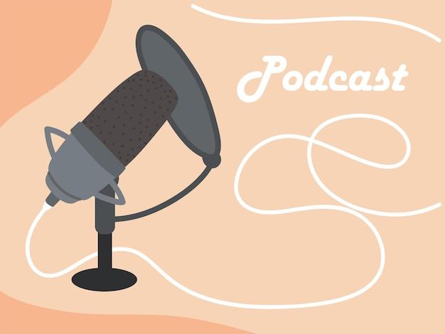 Placa de microfone de podcast