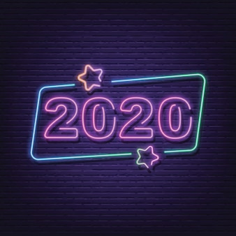 Placa de néon 2020