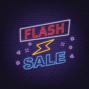 Placa de néon de venda instantânea