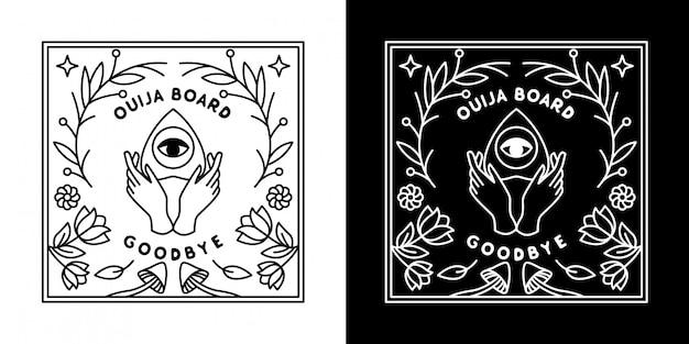 Placa de ouija da flor monoline design