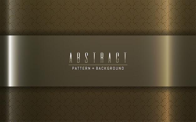 Placa de ouro luxo padrão abstrato