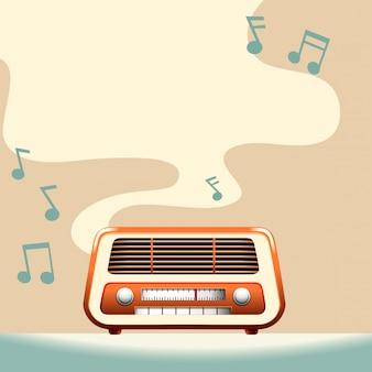 Placa de rádio com espaço de cópia