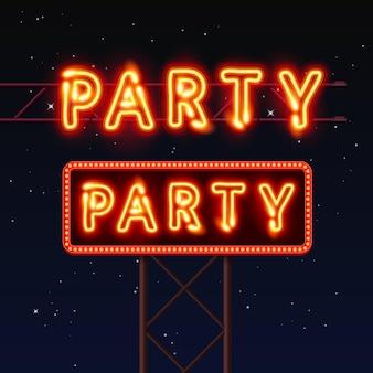 Placa de rua que diz festa. ilustração vetorial