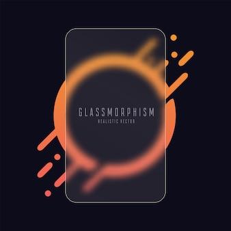 Placa de vidro fosco acrílico ou acrílico fosco em forma de retângulo morfismo realista do vidro