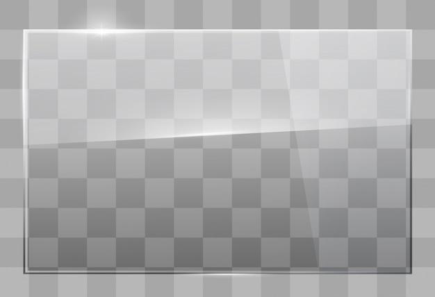 Placa de vidro na parede