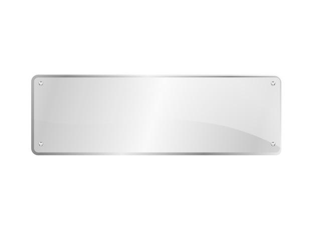 Placa de vidro retangular isolada