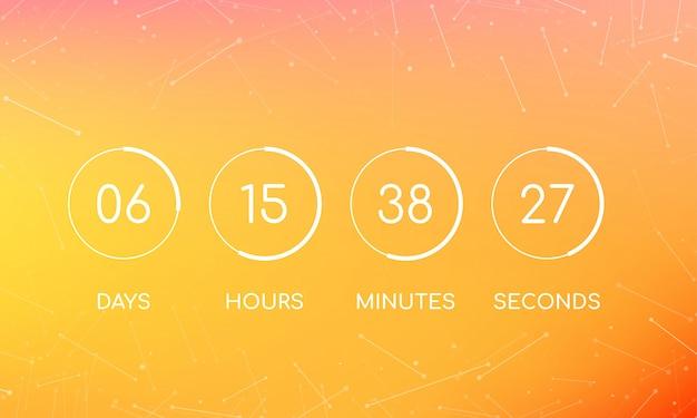Placa do relógio de contagem regressiva para a página em breve