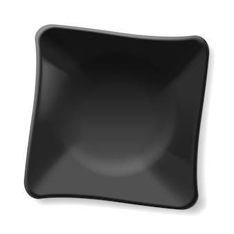 Placa preta vazia isolada no fundo branco