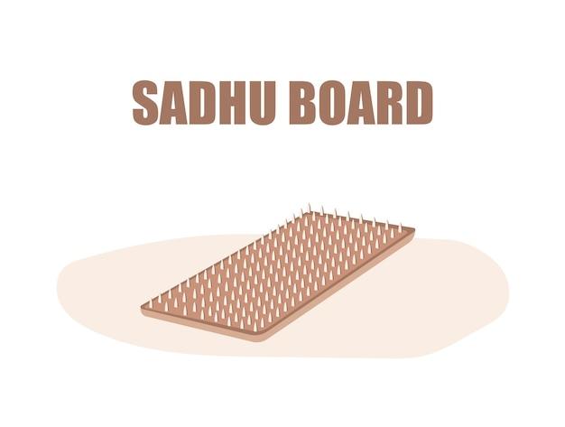 Placa sadhu. medicina alternativa.