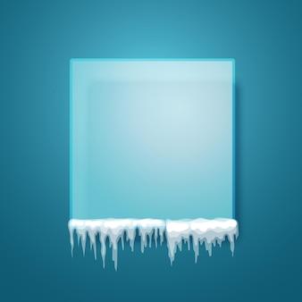 Placa transparente vazia. modelo de texto. porta-retratos em branco
