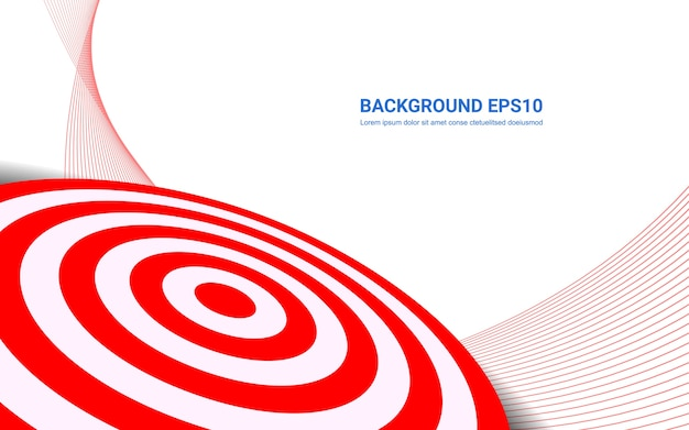 Placa vermelha do alvo no fundo branco. atirando o conceito de soluções de sucesso alvo.