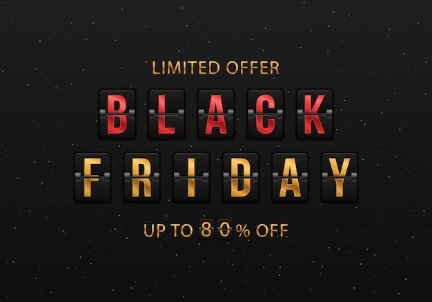 Placar à venda design de relógio flip analógico black friday