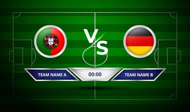 Placar de futebol portugal vs alemanha